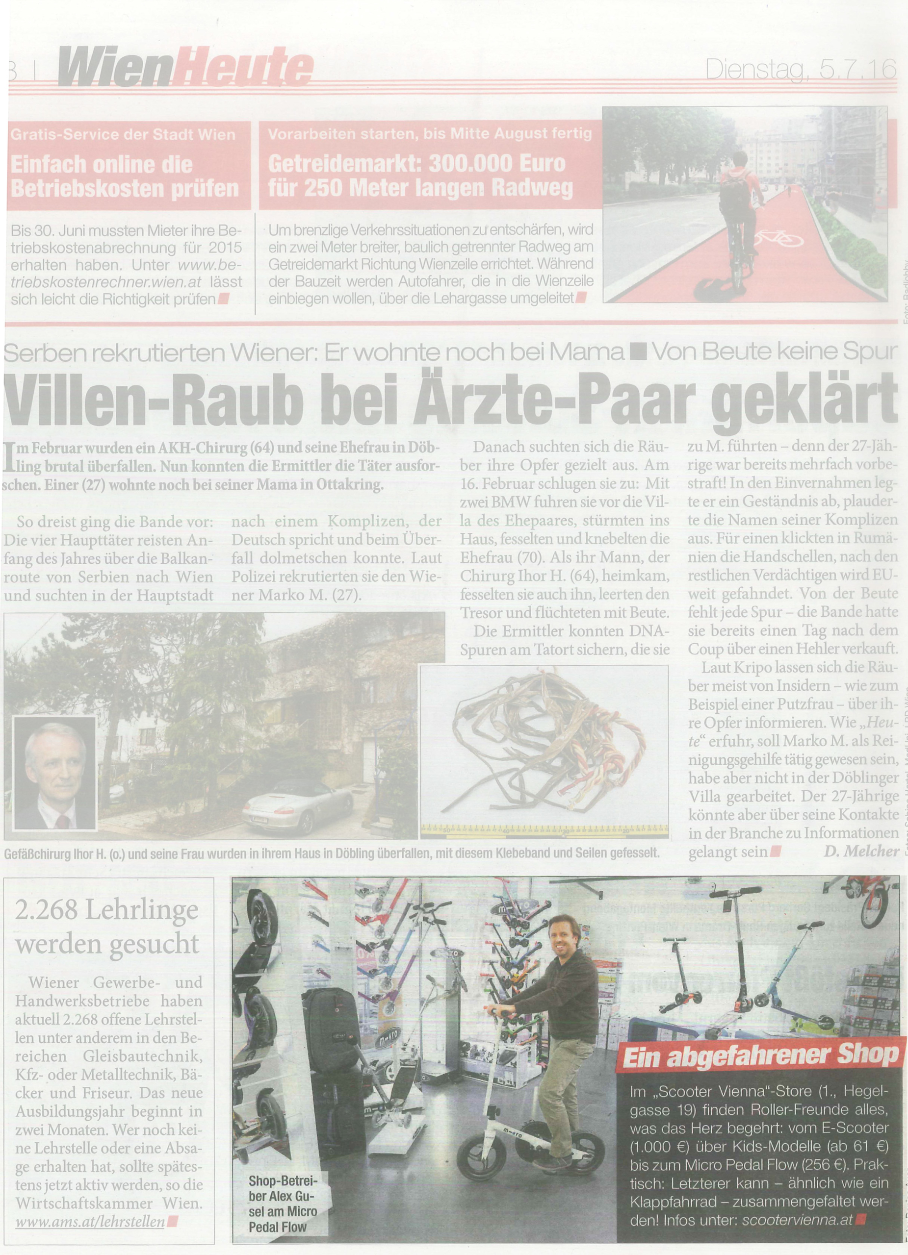 """Read more about the article """"Heute"""" Zeitung Beitrag!"""